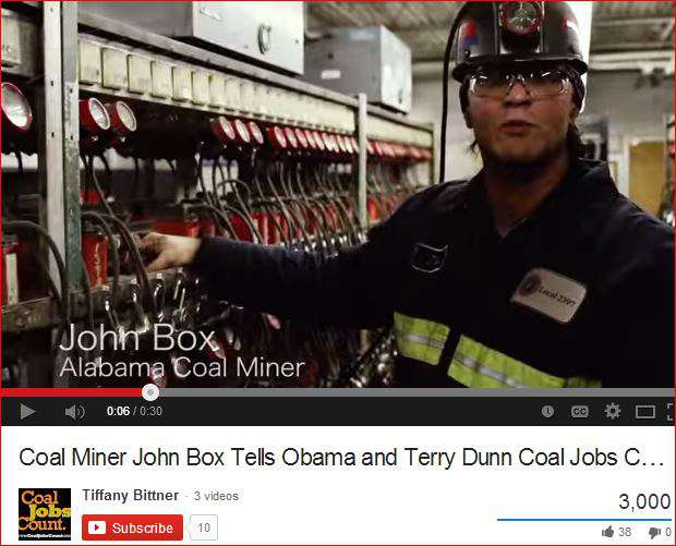 Miner Box on coal jobs count video
