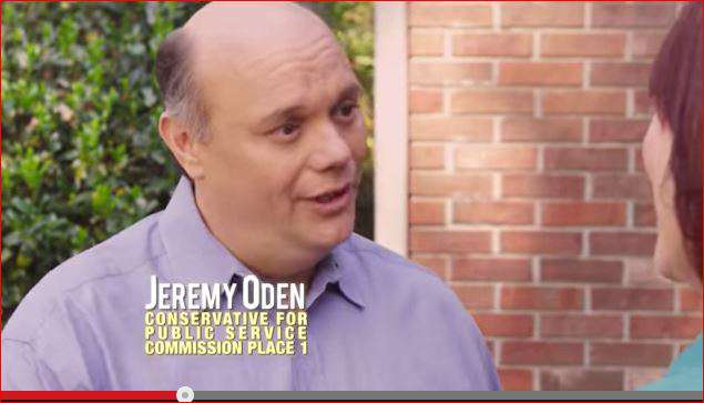 "Flush with $350,000 plus in campaign cash, Oden's campaign has flooded the airwaves with this TV ad that cutely addresses his lack of name recognition -- is he Jimmy or Jeremy? -- and ends with a spirited if altogether irrelevant pledge to somehow use his position on the PSC to ""fight Obama."""