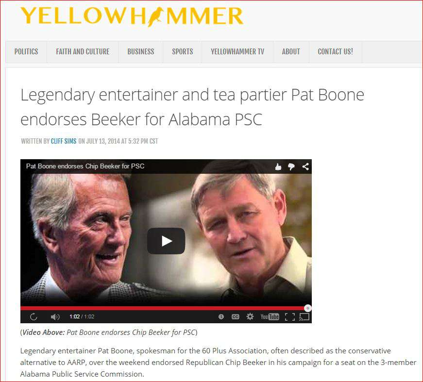 yellowhammer and pat boone