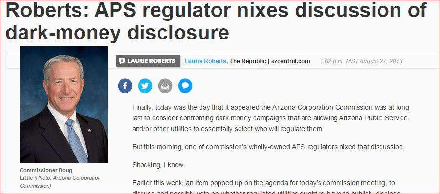 Arizona column dark money