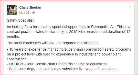 Beeker Safety Specialist
