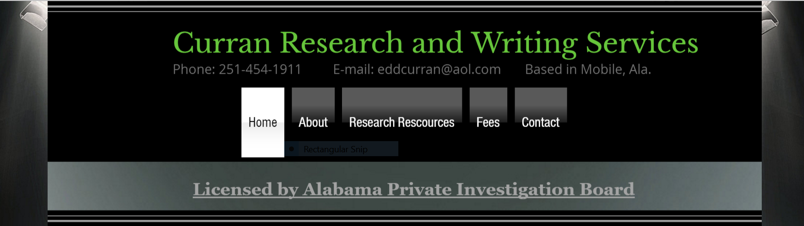 Curran Research and Writing Banner