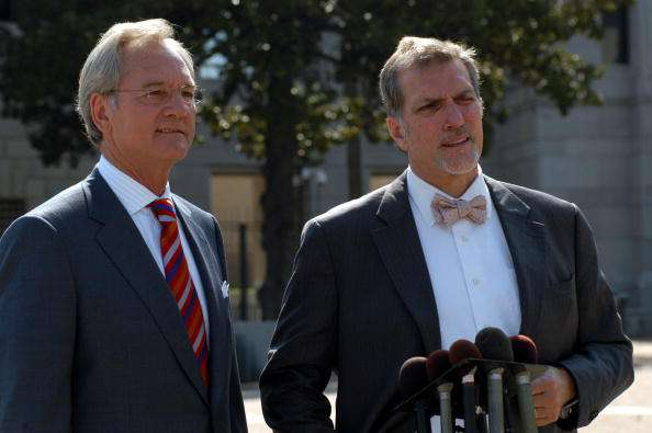 Don Siegelman, former governor of Alabama, left, and Vince K