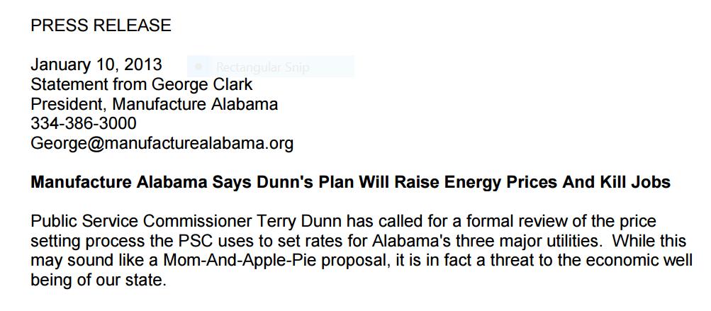 Manufacture Alabama vs Dunn
