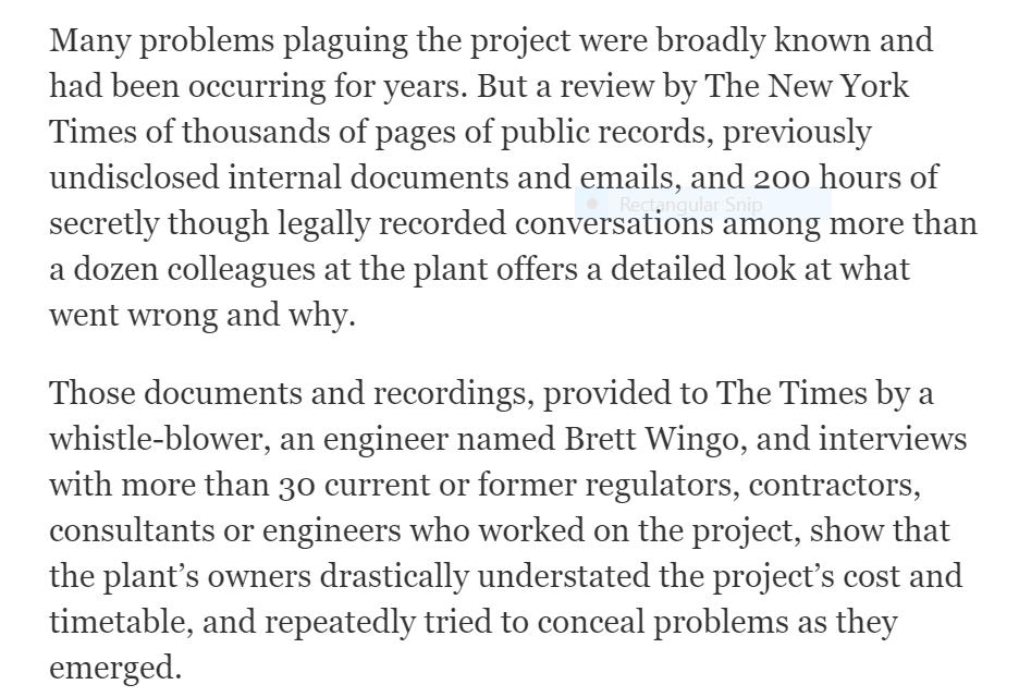 NY Times story portion