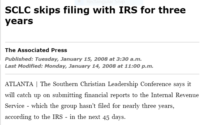 SCLC skips filing