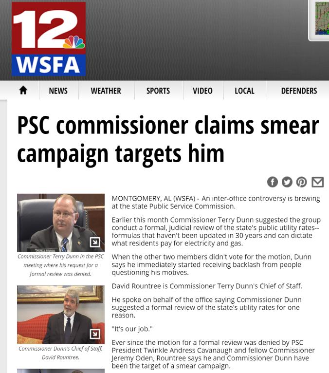 TV Smear campaign story